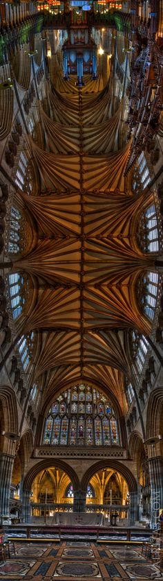 Exeter Cathedral, Devon, UK  I named my youngest after Devon, UK & the beauty of this reminds of his creativity!