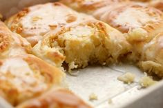 Buttery Coconut & Almond Morning Buns ~T~ Love these delicate buns with a buttery coconut goodness.