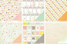 Sweet, sweet papers. Some a bit too cutesy, but the B sides seem useable in these cases :) Dear Lizzy Neapolitan collection by American Crafts