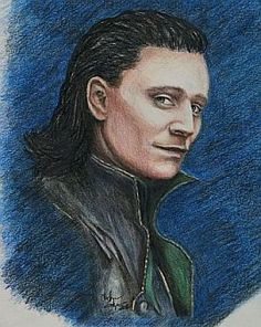 Loki / Tom Hiddleston print of colored pencil by CJepsenFineArt