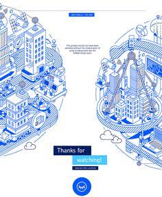 AZZURRI Corporate Illustration on Behance