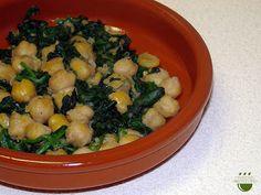 Cigrons amb espinacs / Garbanzos con espinacas
