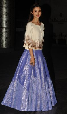 When she wore a sweater with a lehenga and changed the whole game. | 18 Outfits Alia Bhatt Wore In 2015 That You'll Want To Steal