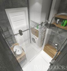 kafle beton, szara łazienka Bad Inspiration, Bathroom Inspiration, Cad 2d, Küchen Design, Interior Design, Small Bathroom With Shower, Cupboard, Cabinet, Wet Rooms