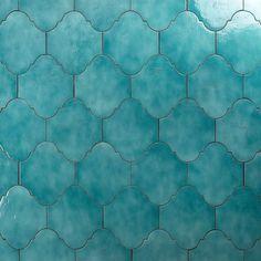 Ivy Hill Tile Appaloosa Arabesque Sea Blue 8 in. / - The Home Depot Ivy Hill Tile Appaloosa Arabesque Sea Blue 8 in.