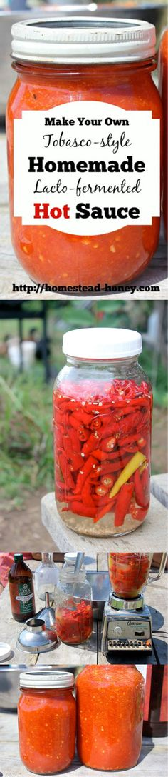 Homemade Hot Sauce. Makes a great gift for a dad who loves to cook or just enjoys spicy food.