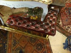 red leather fireplace fender seat - Google Search Fireplace Fender, Country Style Living Room, Red Leather, Google Search