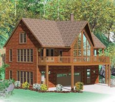 Rustic House Plan with great vaulted family room and balcony overlook - House Plans, Home Plan Designs, Floor Plans and Blueprints Log Cabin Floor Plans, Rustic House Plans, Cabin House Plans, Mountain House Plans, House Plans One Story, Story House, House Floor Plans, Farmhouse Plans, Cabin Homes