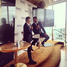 """Gerard Butler being interviewed about being """"The Man of Today,"""""""