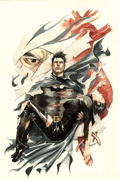 Watercolor Illustrations of Super Heroes and Villains