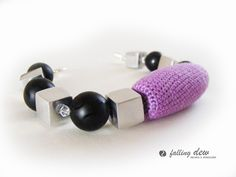 Purple Crochet Bracelet by Falling Dew