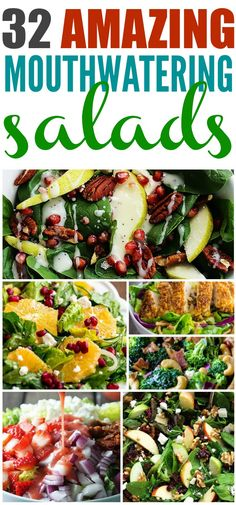 32 Amazing Mouthwatering Must make salads from around the web all in one spot!