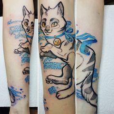 WEBSTA @ makabrotka - First tattoo in @blackstarstudio  done with @fantomneedles