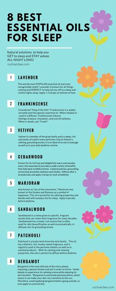 Best essential oils to help GET you to sleep and STAY asleep ALL NIGHT! Natural solutions for your total health and wellness! More