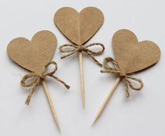 Wedding Cupcake Toppers, Wedding Topper, Wedding Cupcakes, Heart Cupcakes, Pink Cupcakes, Craft Gifts, Diy Gifts, Rustic Cupcakes, Fondant Cupcake Toppers