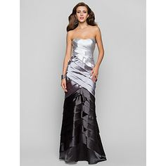 Trumpet/Mermaid Sweetheart Floor-length Satin Evening Dress – lovely ombre color with this
