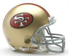 San Francisco 49ers 1964-95 Throwback Replica Mini Helmet
