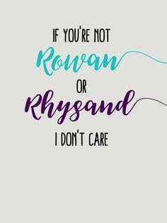 Rowan and Rhysand