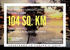 There are a number of small islands in Lake Manitou, thereby making them islands in a lake on an island in another (great) lake -- Lake Huron. Great  fact 68/150 #Canada150
