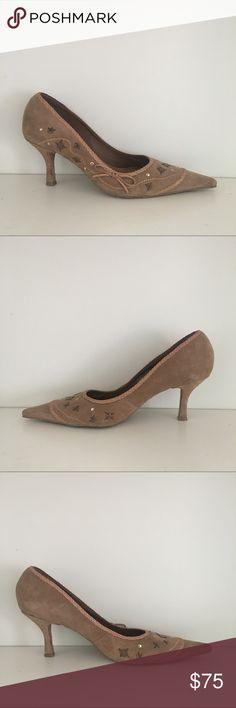 Schutz suede studded heels Beautiful embellished suede heels in excellent pre loved condition. SCHUTZ Shoes Heels