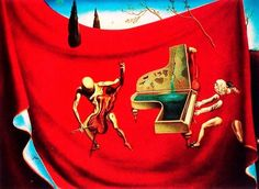 "The Red Orchestra , Salvador Dali, 18""x12"" , Fine Art Prints"