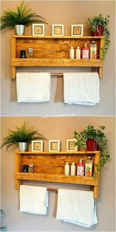 8 DIY Pallet Home Decor-DIY for Home Learn how to turn ordinary wood pallets into amazing home and garden projects. See great pallet wood projects, and many only require basic . Wooden Pallet Furniture, Wooden Pallets, Diy Furniture, Pallet Wood, Reclaimed Wood Projects, Diy Pallet Projects, Garden Projects, New Pallet Ideas, Pallet Shelves Diy