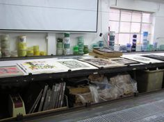 +Printing (Batik, screen, woodblock) classes  screen printing studio