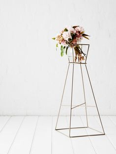 a modern bohemian flower arrangement
