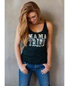 <ul><li>Mama Tried Emerald Triblend raw edge racerback Tank</li><li>Printed in Metallic Silver</li><li>Runs a size small</li><li>Model is wearing a Small<br></li></ul>
