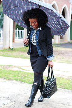 eb137ec2265 Outfit  Rain Rain Go Away - top  Forever 21 gingham shirt
