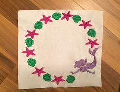 Monogram Mermaid Embroidery File