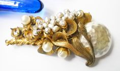 Vintage Miriam Haskell Seed Pearl Baroque Pearl Brooch Hollywood Regency Mid Century by FindCharlotte on Etsy