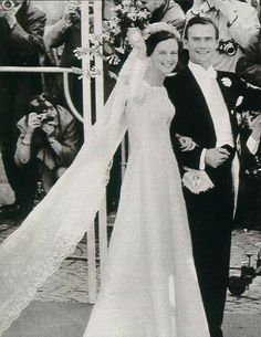 Then Crown Princess Margarethe of Denmark on her wedding day.