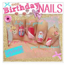 Birthday Nails    For Liv... (: