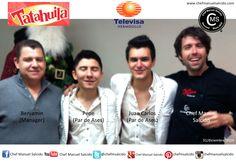 con mi amigo Benjamin Isi Jr (manager Par de Ases), Pepe Gutiérrez (Par de Ases) y Juan Carlos Corral (Par de Ases)!!! buena vibra!!! #chefcms #pardeases #televisa #televisahermosillo #hermosillo #mediosdecomunicación