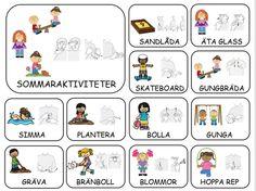 Teckenkartor – Fröken Ljusta Sign Language Book, Learn Swedish, Swedish Language, Summer Activities, Classroom Organization, Montessori, Preschool, Comics, Children