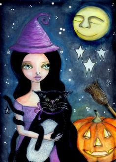 Halloween  Print by willowing on Etsy, £12.00