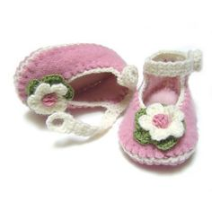 Felted Sweater Baby Shoes III