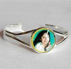 2pc high-quality Super pop singer Soy Luna bracelet Elenco de Soy Luna silver bracelets I'm moon hand chain glass bangle