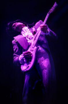 Prince in concert during the Purple Rain Tour at the Omni International Arena, Atlanta, Ga. on January 3, 1985.