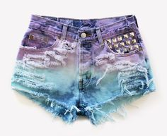 611 Dyed Studded Vintage Levis Shorts