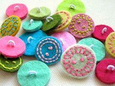 felt buttons