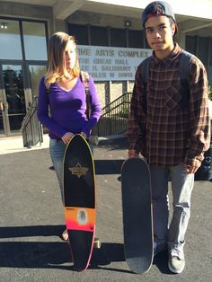 Ruby and her #Dusters longboard. Elijah and his #Real board.