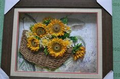 Unknown artist- Quilled sunflowers pictures (Searched by Châu Khang)