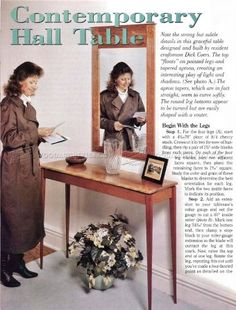 #2290 Hall Table Plans - Furniture Plans