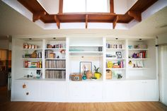ohdeardrea: living room shelves that could work in the studio storage room
