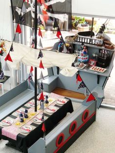 Pirate Bash Party Birthday Party Ideas | Photo 17 of 25 | Catch My Party