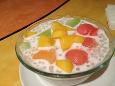 Sago and Fruit Mix