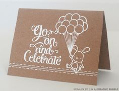 In a Creative Bubble: Mama Elephant March Stampede—Love white on kraft!