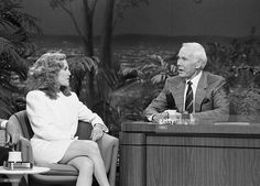 Actress Madeline Kahn during an interview with hosy Johnny Carson on July 18, 1991, Burbank, CA